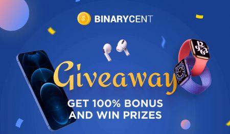 Binarycent Deposit Promotion - Up to 100% Bonus
