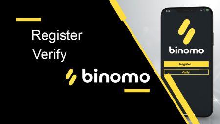 Comment enregistrer et vérifier un compte dans Binomo