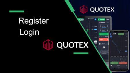 Comment s'inscrire et se connecter à Quotex