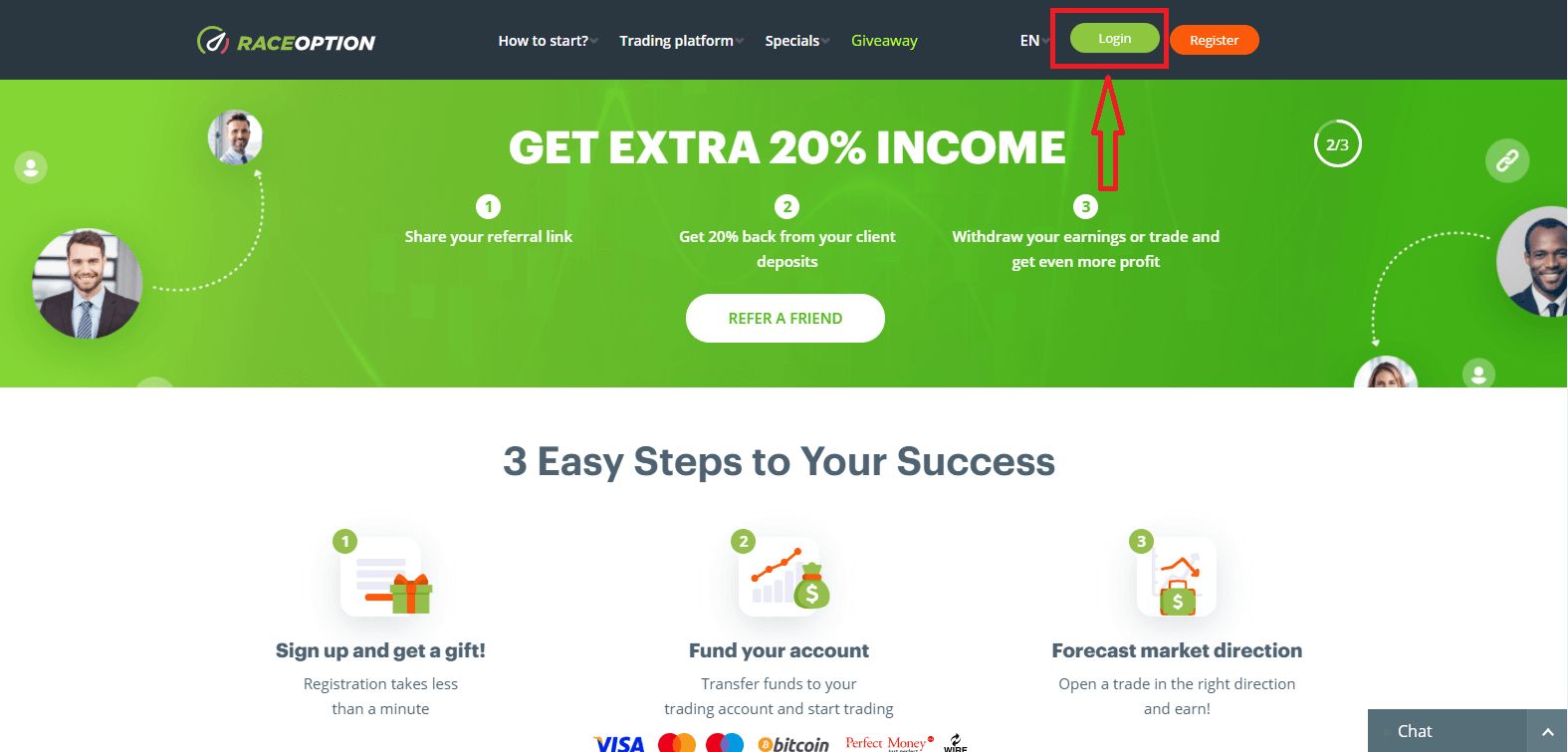 How to Login to Raceoption? Forgot my Password