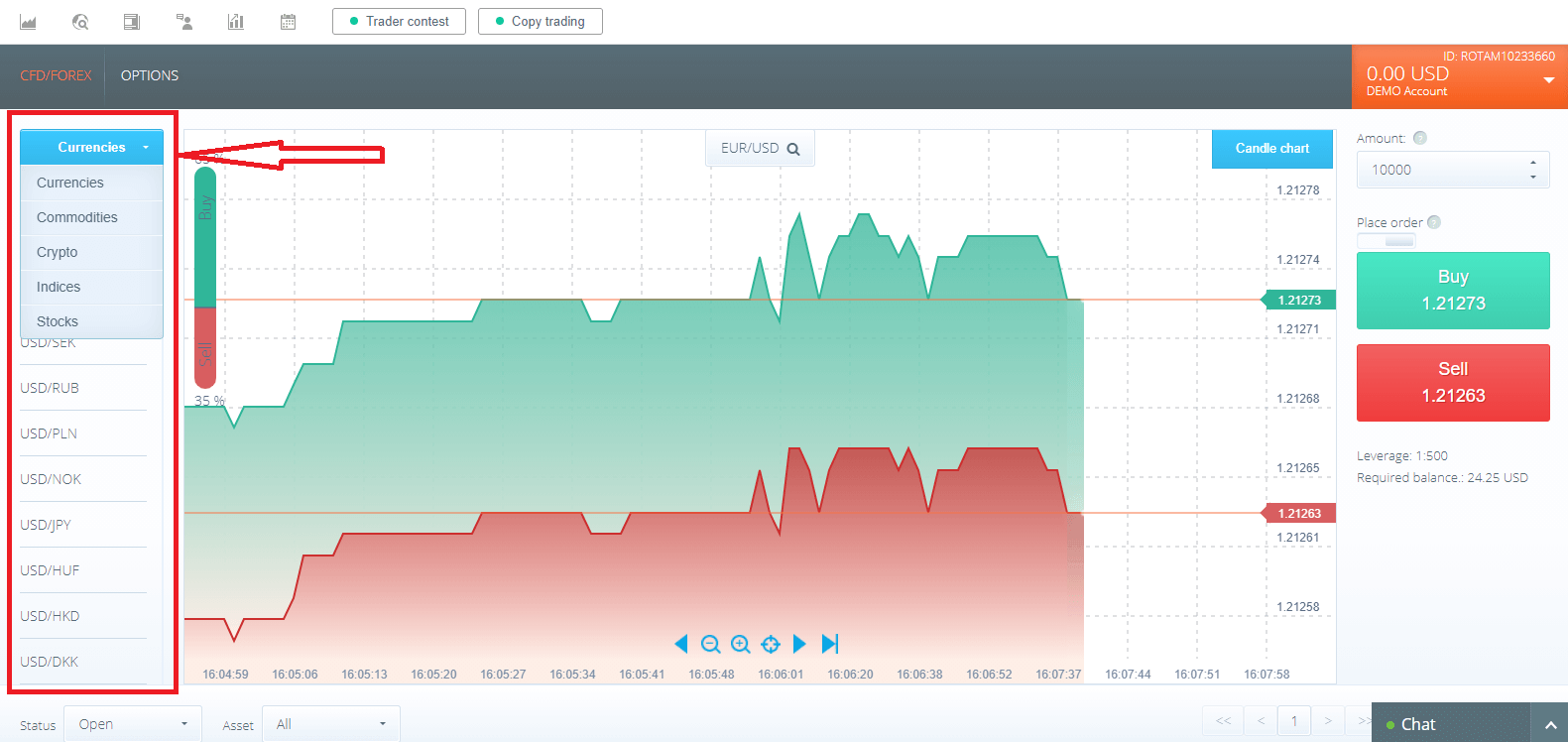 How to Trade at Raceoption for Beginners