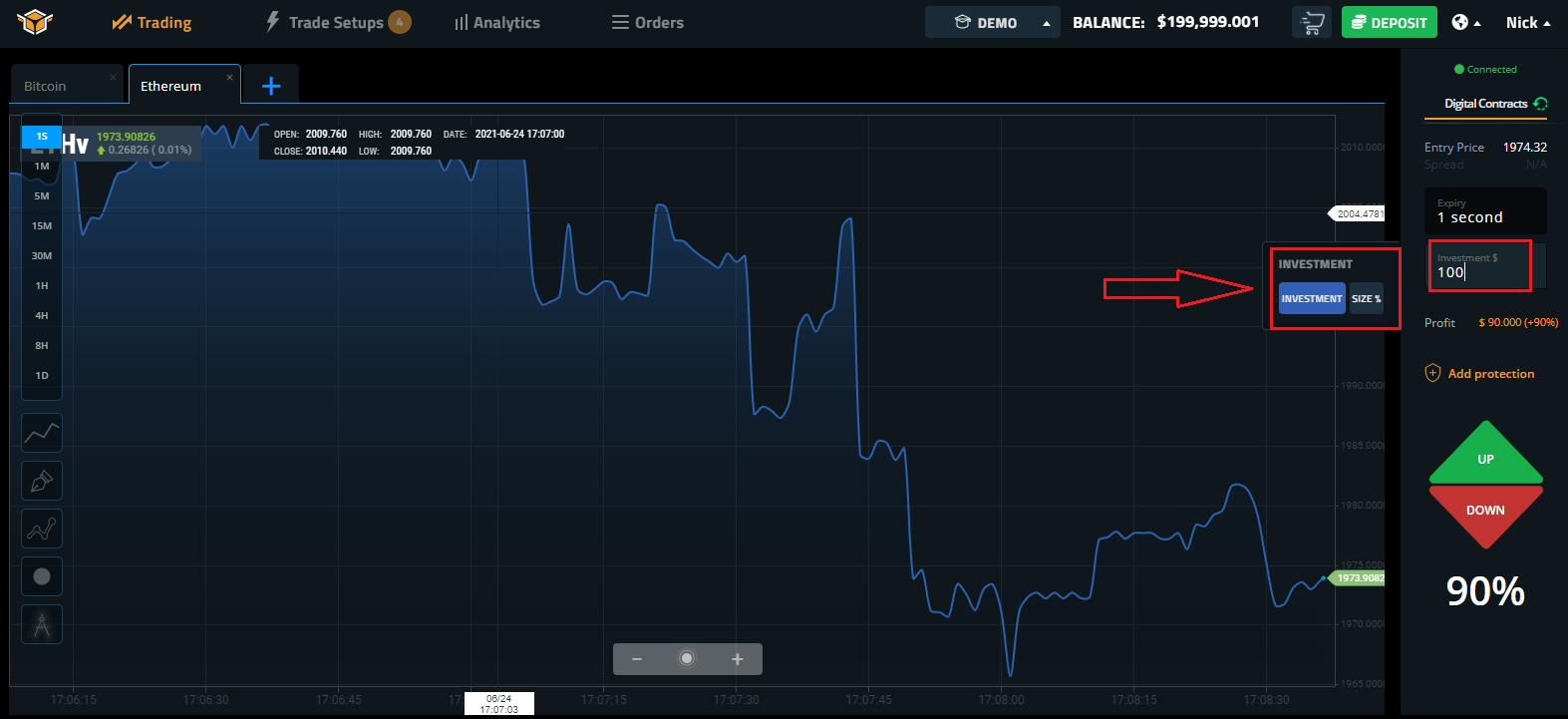 How to Trade Binary Option at Spectre.ai